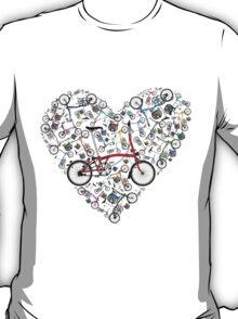 I Love Brompton Bikes T-Shirt