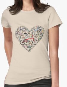 I Love Brompton Bikes Womens Fitted T-Shirt