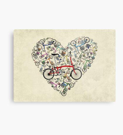 I Love Brompton Bikes Metal Print
