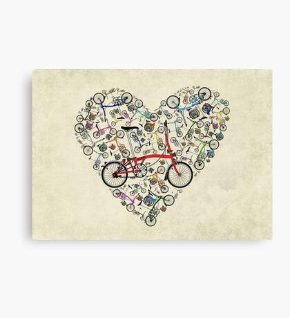I Love Brompton Bikes Canvas Print