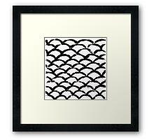 Handpainted Brush Texture Framed Print