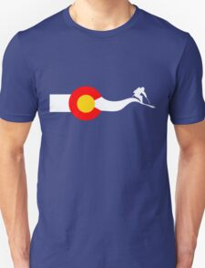 Ski Colorado Flag Unisex T-Shirt