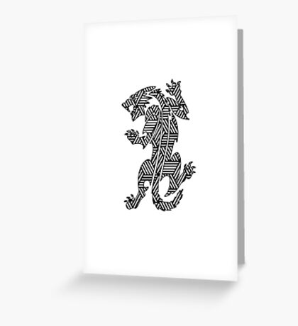 Tiger Strikes  Greeting Card