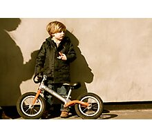 Boy with bike on Portobello Road  Photographic Print