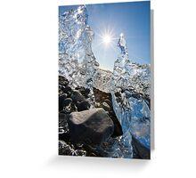 jourgensen lagoon iceland iceberg Greeting Card