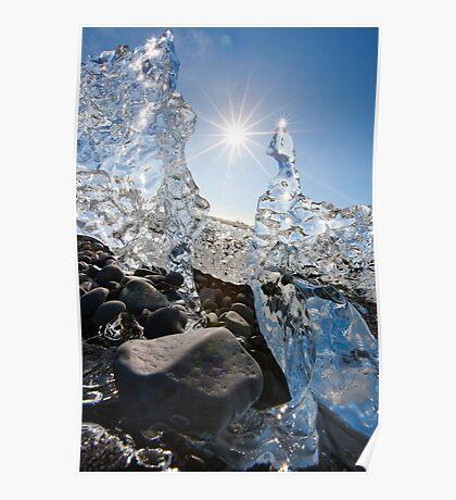 jourgensen lagoon iceland iceberg Poster