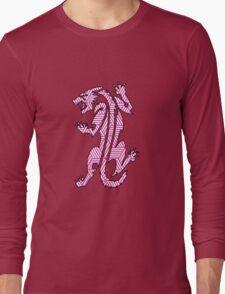 Tiger Strikes Pink  Long Sleeve T-Shirt
