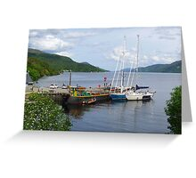 Fort Augustus Dock Greeting Card