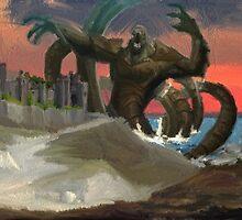 The Kraken Visits Dover by gigglingnewt