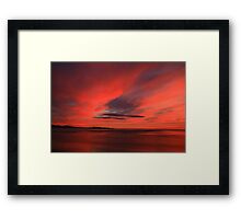 winter sky. eastcoast, tasmania Framed Print