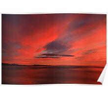 winter sky. eastcoast, tasmania Poster