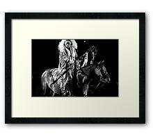 Horseback Danger Framed Print