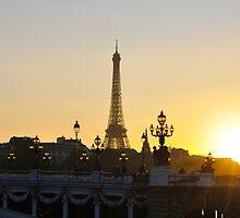 Dusk Falls On Paris by Lisa Williams