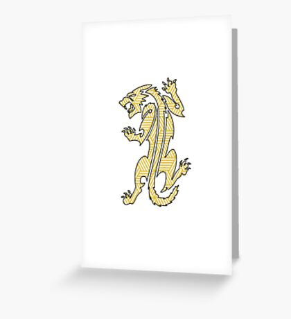 Tiger Strikes Yellow  Greeting Card