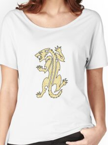 Tiger Strikes Yellow  Women's Relaxed Fit T-Shirt