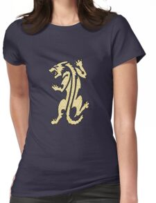 Tiger Strikes Yellow  Womens Fitted T-Shirt