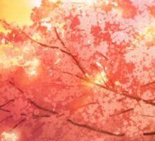 Sunset & Cherry Blossoms Sticker