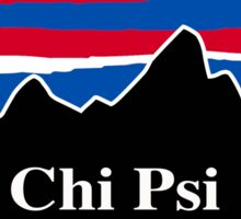 Chi Psi Red White and Blue Sticker