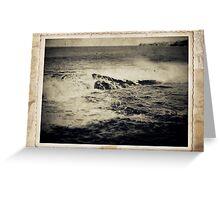 the seaside ~ a nostalgic study I Greeting Card