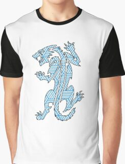 Tiger Strikes Blue  Graphic T-Shirt