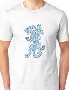 Tiger Strikes Blue  Unisex T-Shirt