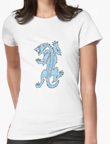Tiger Strikes Blue  Womens Fitted T-Shirt