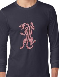 Tiger Strikes Red  Long Sleeve T-Shirt