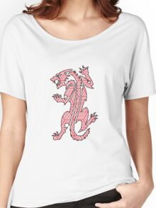 Tiger Strikes Red  Women's Relaxed Fit T-Shirt