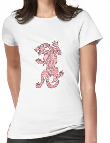 Tiger Strikes Red  Womens Fitted T-Shirt