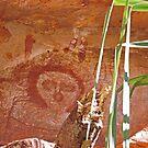 Wandjina Rock Art, Galvans Gorge, Kimberley, Western Australia by Margaret  Hyde