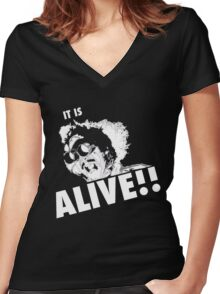 IT IS ALIVE!! Women's Fitted V-Neck T-Shirt