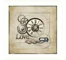 Steampunk Love Art Print