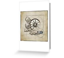 Steampunk Love Greeting Card