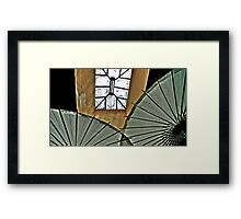 Skylight And Parasols Framed Print