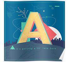 Alphabet A Poster