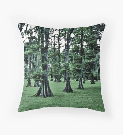 Dark Cypress Throw Pillow