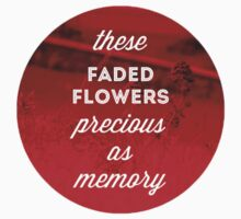 Faded Flowers (red) One Piece - Long Sleeve
