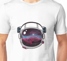 Outer Space Galaxy Astronaut Helmet Unisex T-Shirt