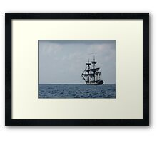 HMS Surprise in the distance Framed Print