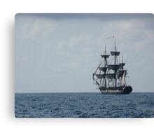 HMS Surprise in the distance Canvas Print