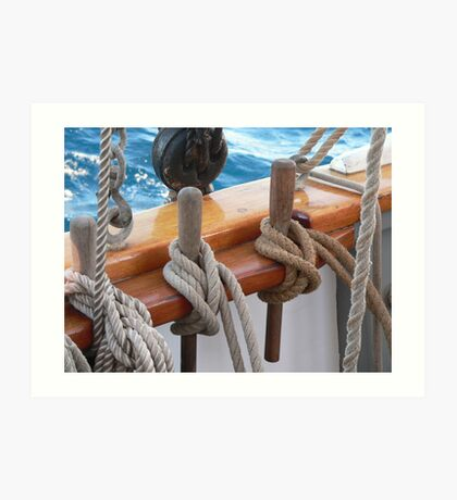 Belaying Pins Art Print