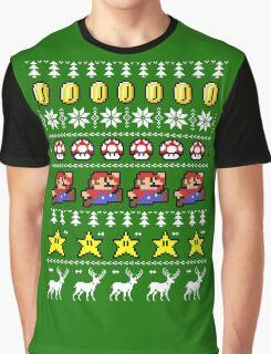 Super Mario 8-bit Ugly Christmas Graphic T-Shirt