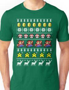 Super Mario 8-bit Ugly Christmas Unisex T-Shirt