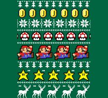 Super Mario 8-bit Ugly Christmas Unisex T-Shirt