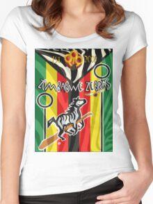 Zimbabwe Zebras Quidditch Team Women's Fitted Scoop T-Shirt
