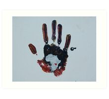Dark Handprint Art Print