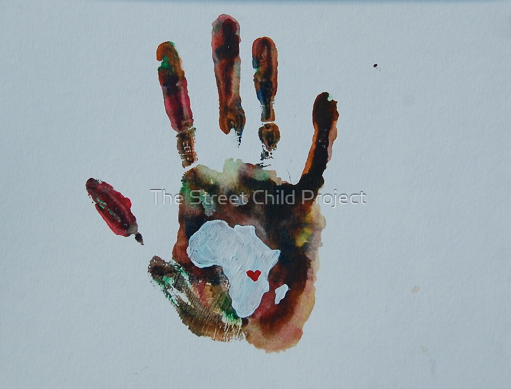 Rainbow Handprint by The Street Child Project