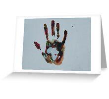 Rainbow Handprint Greeting Card