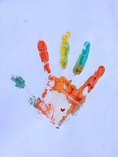 Rainbow Handprint 2 by The Street Child Project