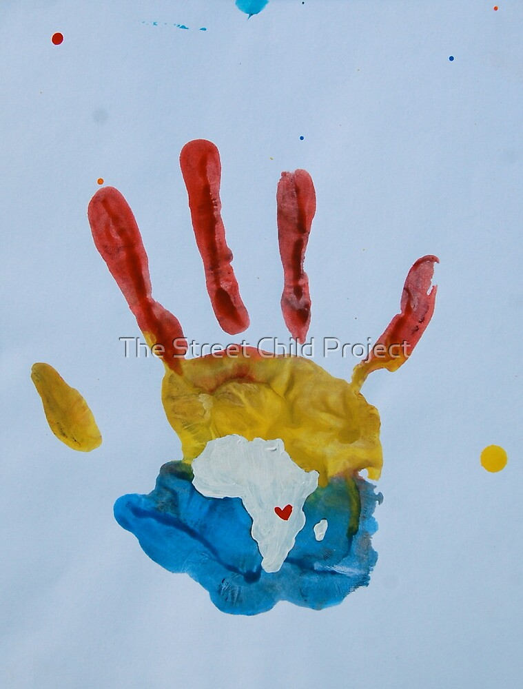 Red, Yellow, and Blue Handprint by The Street Child Project